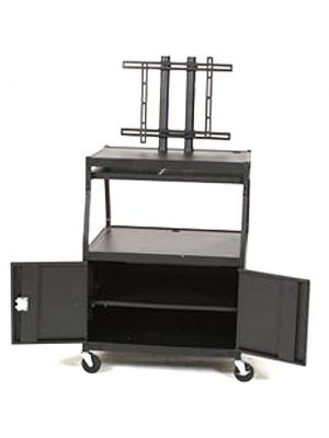 Balt Wide Body Flat Panel TV Cart with Cabinet (Black) (Box 2)