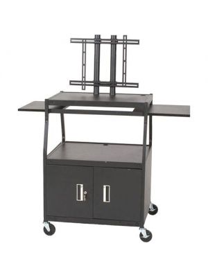 Balt Wide Body Flat Panel TV Cart with Cabinet (Black) (Box 1)