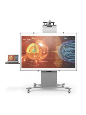 Balt Elevation Interactive Whiteboard Mobile Cart with Short Throw Arm