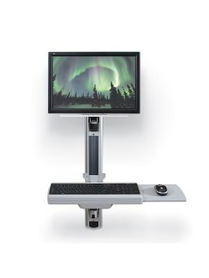 Balt HG Wallmount Workstation with CPU Holder (66645) & Additional Monitor Arm (66646) included
