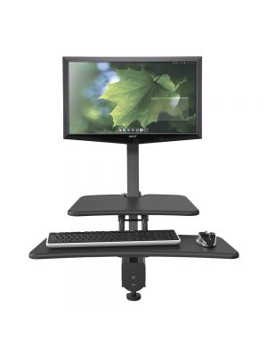 Balt Up-Rite Desk Mount Sit/Stand Workstation – Single Monitor Mount